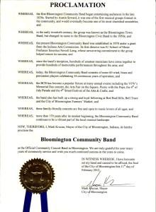 Mayor Mark Kruzan's Proclamation in 2012